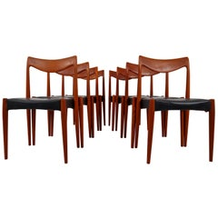 "Set of Eight Teak ""Bambi"" Chairs by Rolf Rastad & Adolf Relling, Norway, 1960"