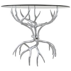 Arthur Court Cast Aluminum Antler Table, 1970s