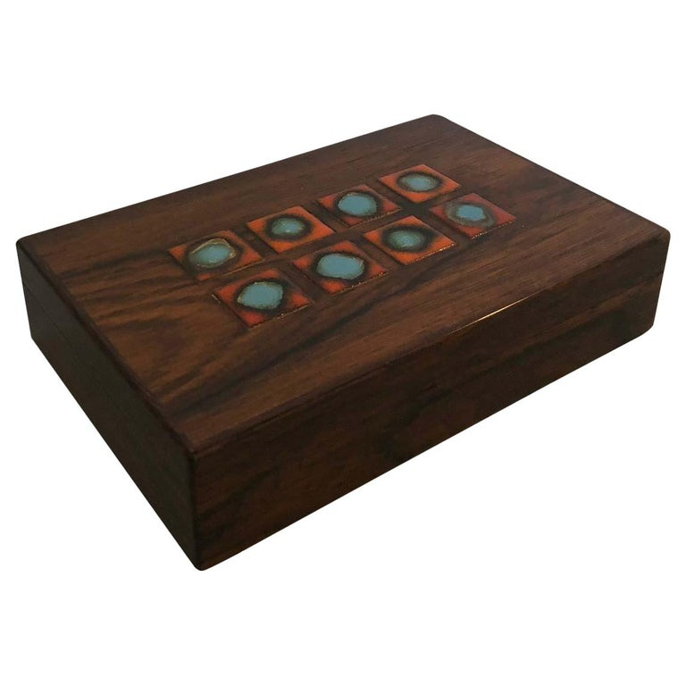 Bodil Eje Danish Rosewood Box / Humidor by Alfred Klitgaard For Sale