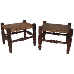 Early 19th Century Foot Stools, Pair