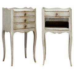 Pair of Painted Chevet Tables