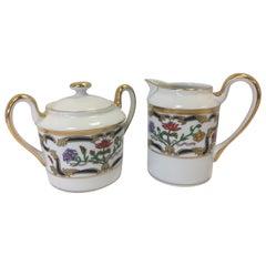 Christian Dior Renaissance Porcelain Tea Coffee Service Cream and Sugar
