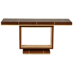 Elegant Contemporary Art Deco Style Inlaid Lacquer Console Table
