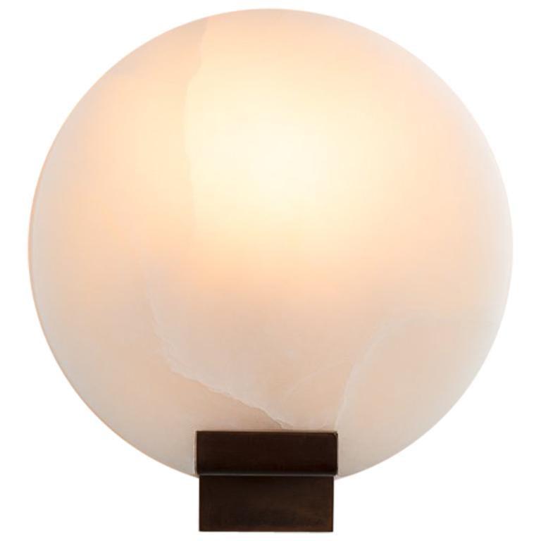 "Stephen Downes, ""Moon"" Polished Alabaster Sconce, United States, 2014 For Sale"