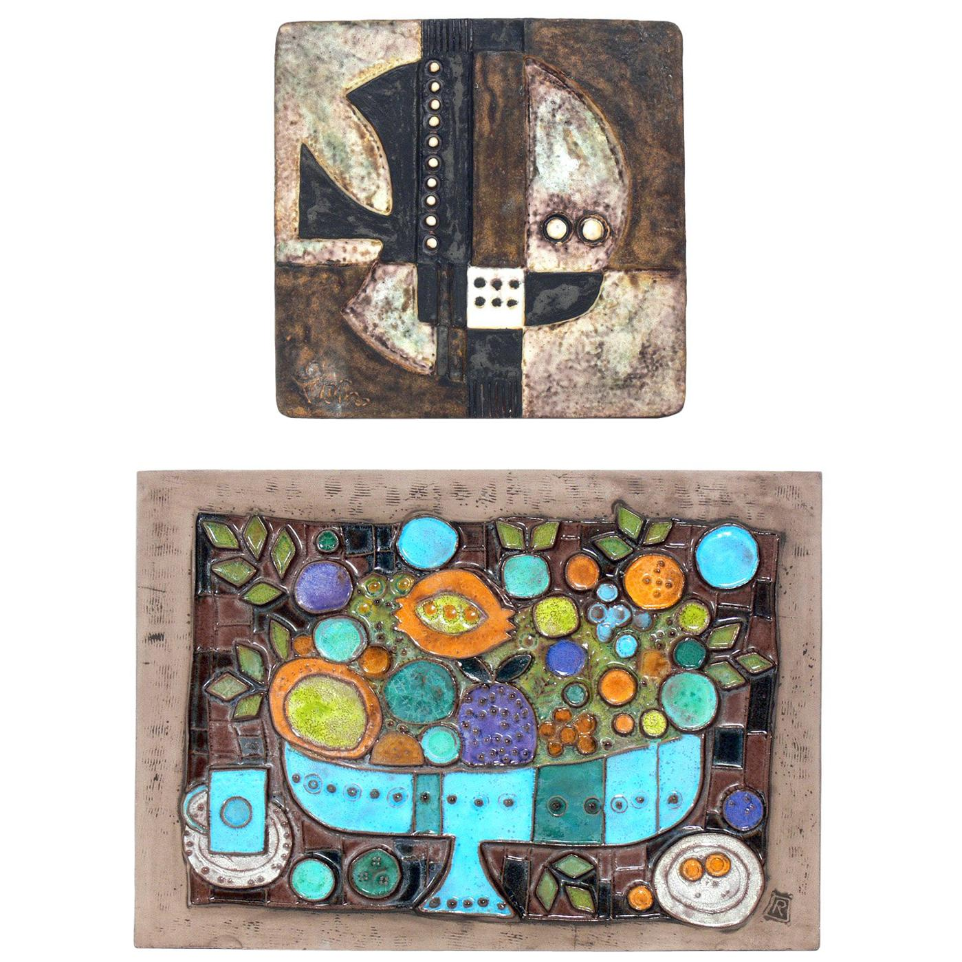 Selection of Modernist Ceramic Tile Plaques