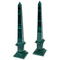 Malachite Obelisks, Pair