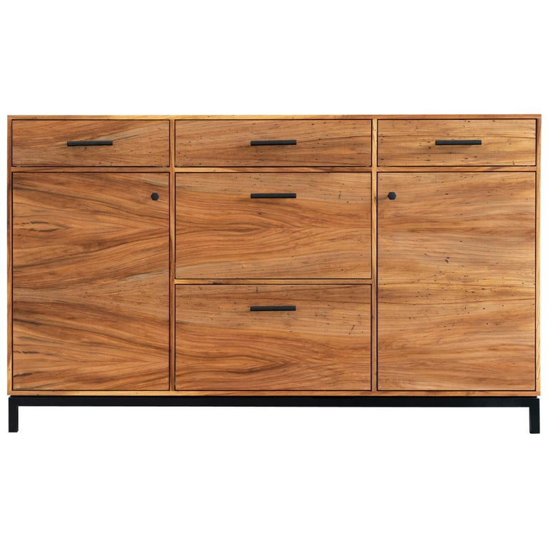 Lanett Credenza in Elm  by Alabama Sawyer For Sale