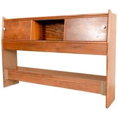 Mid Century Kipp Stewart for Drexel Declaration Walnut Wood Full Size Headboard
