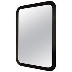 Decorative Contemporary Beveled Edge Black Glass Mirror