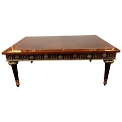 Extraordinary Regency Mahogany Ebonized & Gilded Greek Key Coffee Table