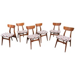 George Nelson for Herman Miller Set of 6 Dining Chairs