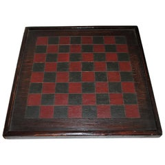 19th Century Game Board, Original Painted Surface