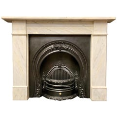 Victorian Style Statuary Marble Fireplace Surround