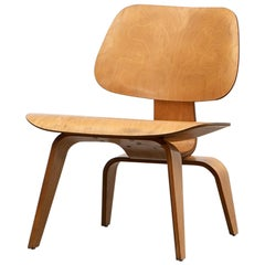 "1940s Ash Plywood LCW Chair by Charles & Ray Eames ""E"""