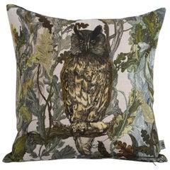 Indie Wood Long-Eared Owl Cushion by Timorous Beasties, 21st Century