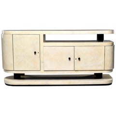 Midcentury Italian Vellum Covered Sideboard