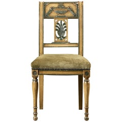 Directoire Empire Style Antique French Painted Chair, circa 1850