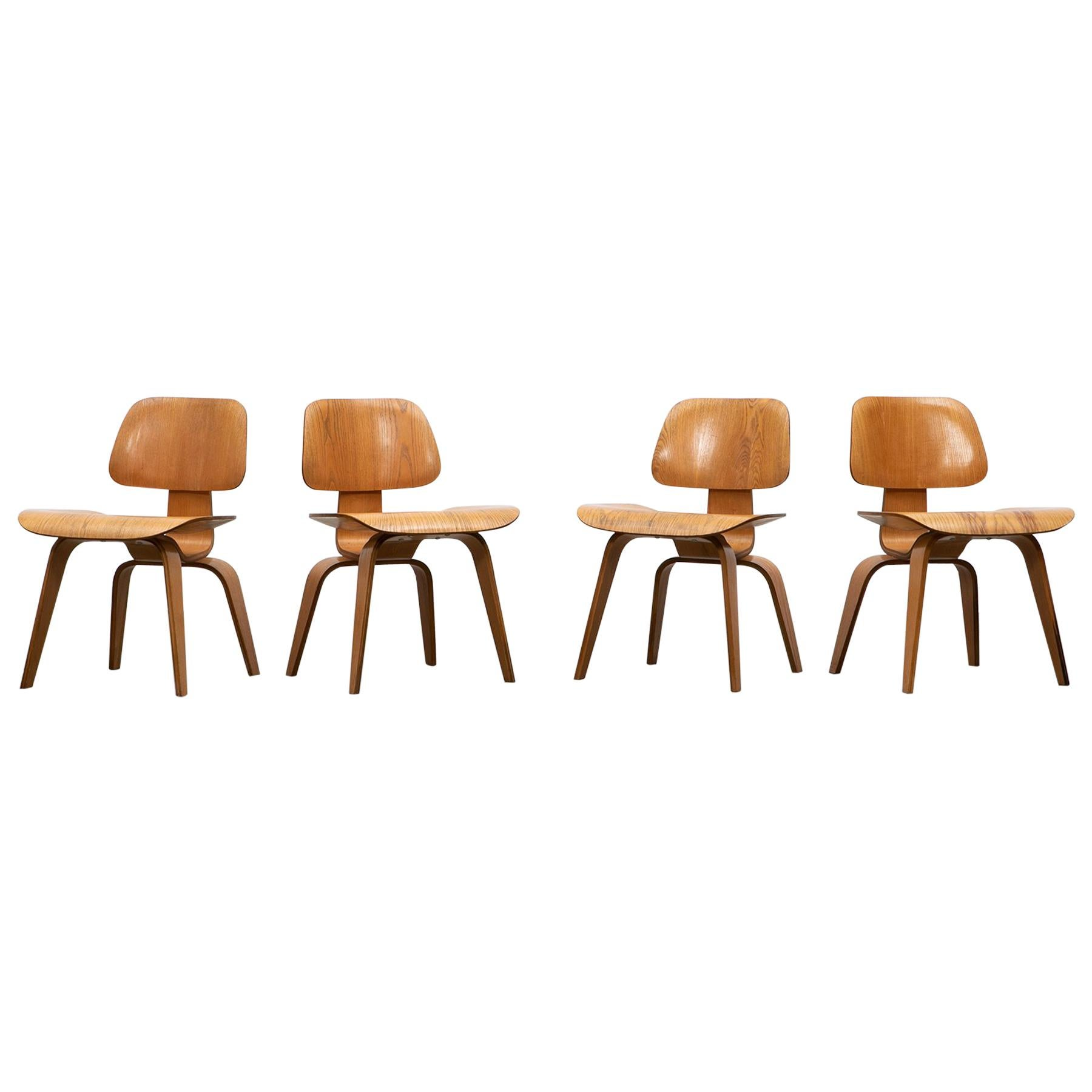 1940s Walnut Plywood DCW Chairs by Charles & Ray Eames, 4