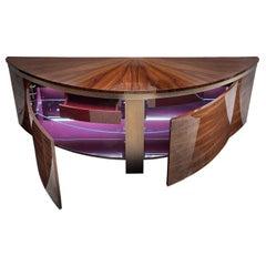 Giorgio 'Coliseum' Brazilian Rosewood Curve Buffet Sideboard