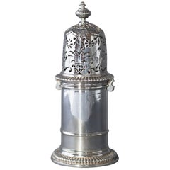 William III Britannia Silver Lighthouse Caster, London 1698 by Andrew Raven