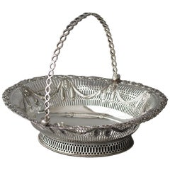 George III Silver Fruit or Bread Basket by Aldridge & Green, London 1774