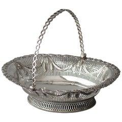 George III Silver Fruit or Bread Basket by Aldridge & Green, London 1774