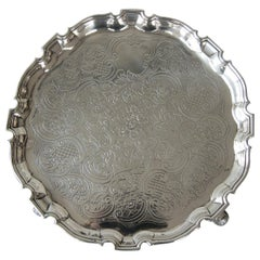George II Silver Salver by George Hindmarsh, London, 1734