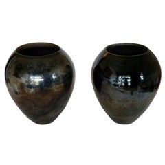 Big Black Ceramic Vases