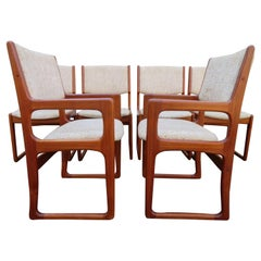 Handsome Set of 6 Danish Benny Linden Teak Dining Chairs Mid-Century Modern