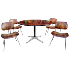 Extremely Rare and Magnificent Herman Miller Eames Rosewood Dcm and Dining Table