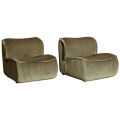 "Pair of ""Calida"" Lounge Chairs designed by Arch. Giudici"