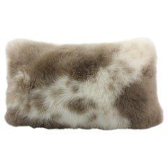 Albanian Lambskin Cushion Rectangle Pillow, Limited Edition