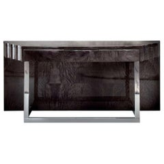 'Giorgio Collection' Japanese Tamo Wood, High Gloss Art Deco Style Console Table