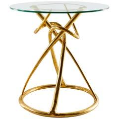 Brass Dining Table, Gordian Node, Misaya