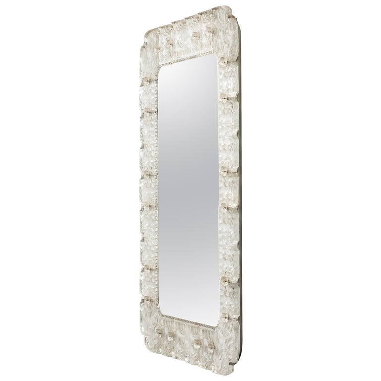 Carl Fagerlund Large Mirror in Glass by Orrefors For Sale