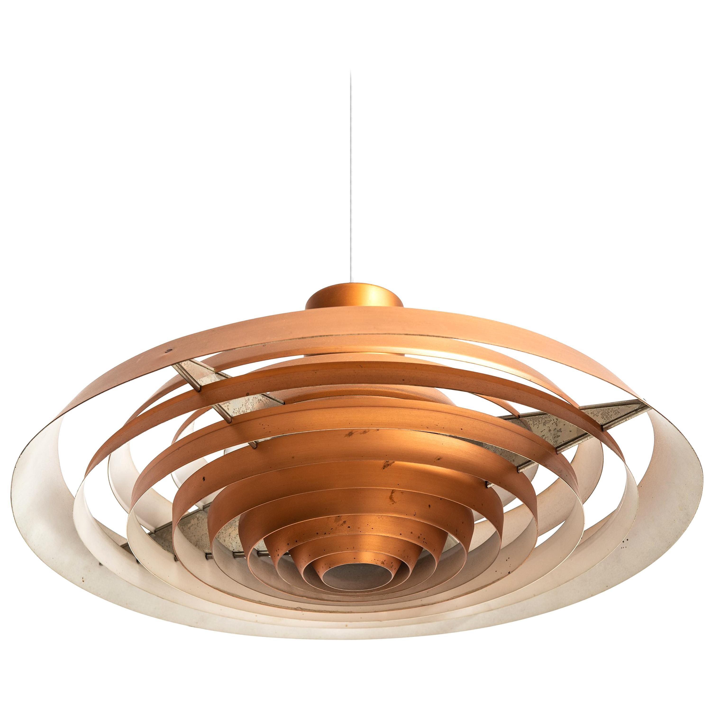 Poul Henningsen Ceiling Lamp Langelinie in Copper by Louis Poulsen in Denmark