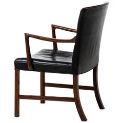 Ole Wanscher Armchair Model J 3063 by Cabinetmaker A. J. Iversen in Denmark