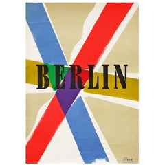 1950s Modernist Berlin Travel Poster by Richard Blank Bauhaus
