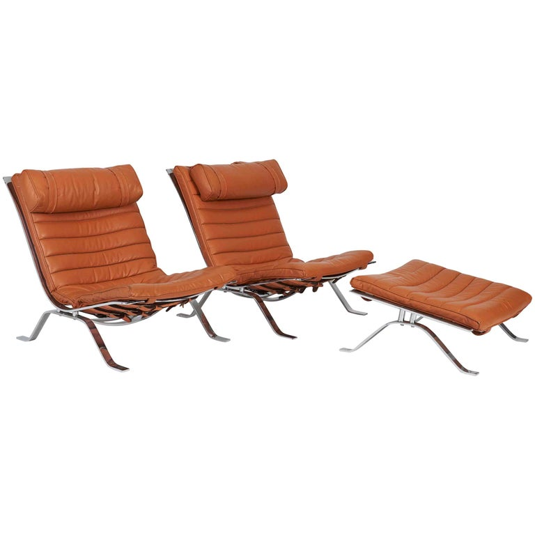 Pair of Ari Chairs by Arne Norell, Sweden, 1970s For Sale