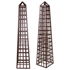 Pair of Iron Garden Obelisks