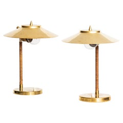 Table Lamps Attributed to Paavo Tynell and Produced by Idman in Finland