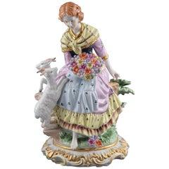 """""""Lady Shepherd"""", Porcelain, after Models from Sèvres 'France'"""