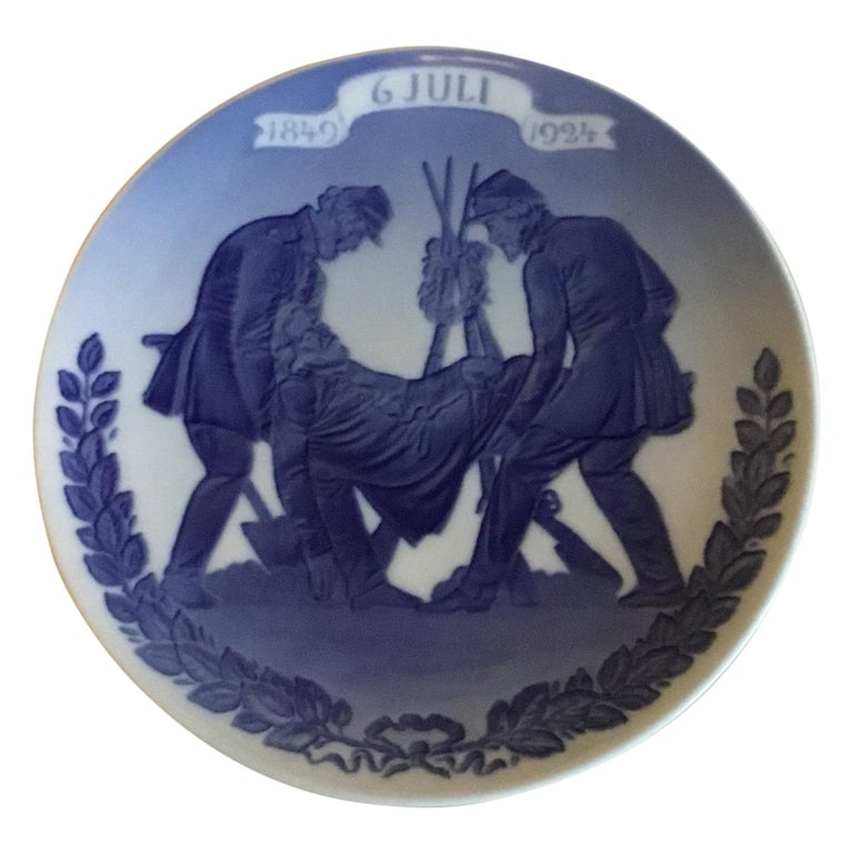 Royal Copenhagen Commemorative Plate from 1924 RC-CM223 For Sale