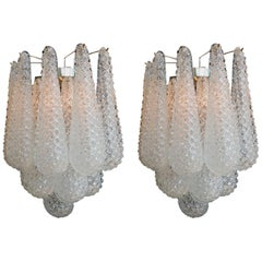 Pair of Italian Wall Sconces, Murano, 1970s