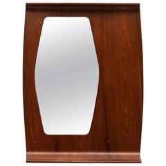1950s Teak Mirror by Franco Campo and Carlo Graffi