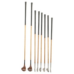Set of Vintage Golf Clubs by Gibson of Kinghorn, Scotland