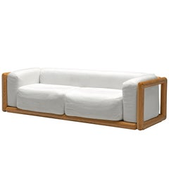 Carlo Scarpa 'Cornaro' Sofa in White Fabric