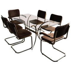 20th Century Marcel Breuer Cesca Chairs and Table, Conference, Dinning Set