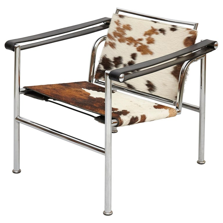 Le Corbusier, Pierre Jeanneret, Charlotte Perriand LC1 Pony Skin Lounge Chair For Sale