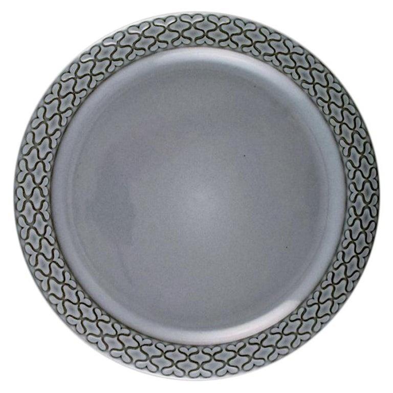 Bing & Grondahl Number 624, Set of 10 Dinner Plates, B & G Grey Cordial For Sale